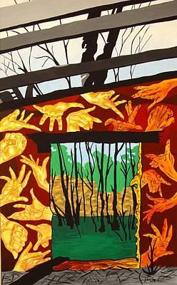 Ruins Mixed Media - The Ruin by Karen Ann Wakeling