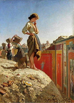 Filippo Palizzi Painting - The Ruins Of Pompeii by Filippo Palizzi