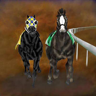 Racetrack Digital Art - The Runaways by Davandra Cribbie
