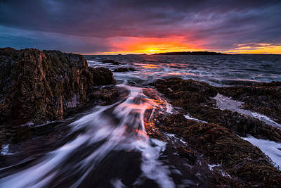 Bailey Island Photograph - The Rush by Benjamin Williamson