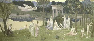 Ground Painting - The Sacred Grove, Beloved Of The Arts And The Muses by Pierre Puvis de Chavannes