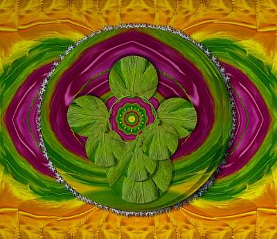 Tibetan Buddhism Mixed Media - The Sacred Mandala by Pepita Selles