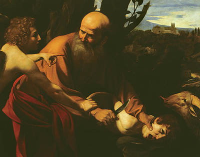 Abraham Painting - The Sacrifice Of Isaac by Caravaggio