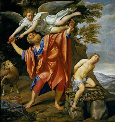 Domenichino Painting - The Sacrifice Of Isaac by Domenichino