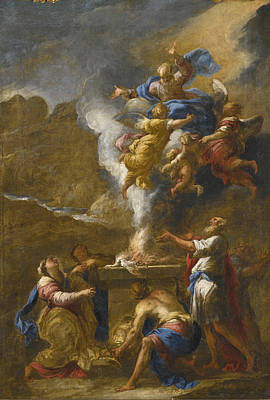 Painting - The Sacrifice Of Noah by Valerio Castello