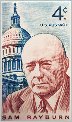 Democratic Painting - The Sam Rayburn Stamp by Lanjee Chee