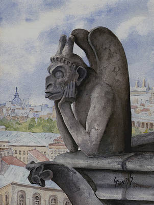 Notre Dame Painting - The Same Old Thing by Sam Sidders
