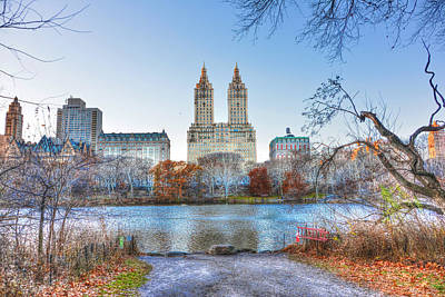 Central Park Photograph - The San Remo Building From Central Park by Randy Aveille