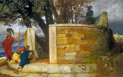 Arnold Boecklin Painting - The Sanctuary Of Hercules by Arnold Boecklin