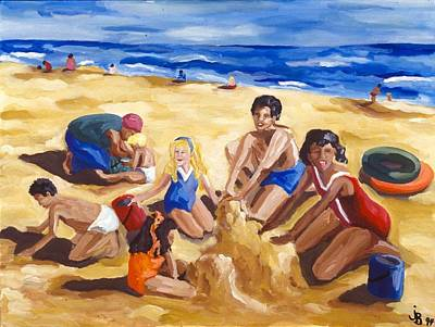 Sand Castles Painting - The Sand Castle by Jodye Beard-Brown