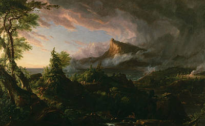 Cole Painting - The Savage State by Thomas Cole