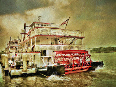 John Adams Painting - The Savannah River Queen by John Adams