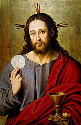 The Savior Print by Juan de Juanes