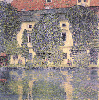 Expressionist Art Painting - The Schloss Kammer On The Attersee IIi by Gustav Klimt
