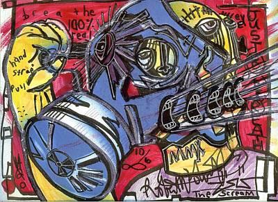 Folk Art Mixed Media - The Scream by Robert Wolverton Jr
