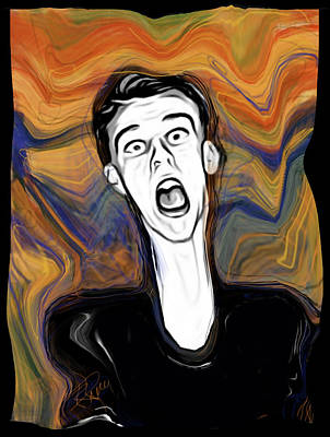 The Scream Print by Russell Pierce