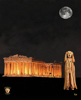 Parthenon Mixed Media - The Scream World Tour Athens by Eric Kempson