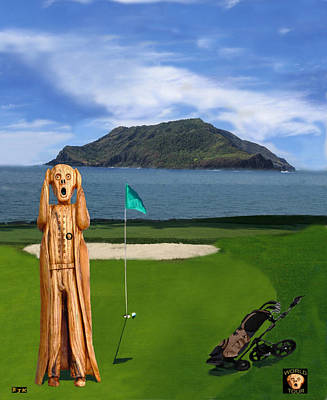 The Scream Mixed Media - The Scream World Tour Golf  by Eric Kempson