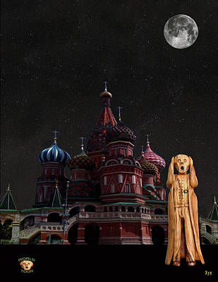 Moscow Mixed Media - The Scream World Tour Moscow by Eric Kempson