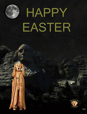Thomas Jefferson Mixed Media - The Scream World Tour Mount Rushmore Happy Easter by Eric Kempson
