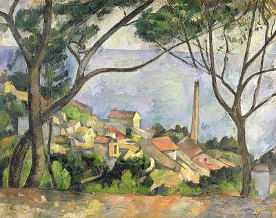 The Sea At L Estaque Print by Paul Cezanne