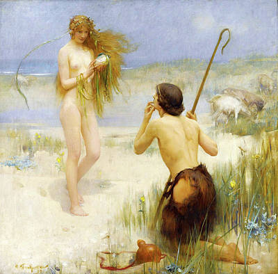 Arthur Hacker Painting - The Sea-maid by Arthur Hacker