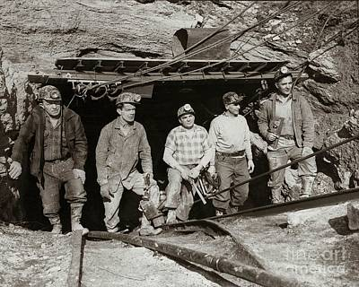 The Search And Retrieval Team After The Knox Mine Disaster Port Griffith Pa 1959 At Mine Entrance Print by Arthur Miller