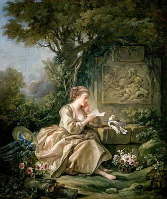 18th Century Painting - The Secret Message by Francois Boucher