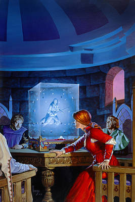 Knights Castle Painting - The Seeing Cube by Richard Hescox
