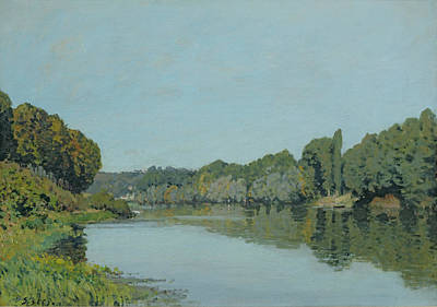 The Seine At Bougival Print by Alfred Sisley