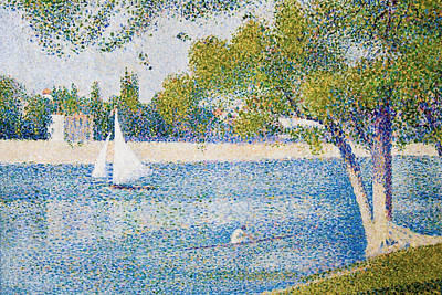 Rowing Painting - The Seine At The Grand Jatte, Spring by Georges Seurat