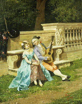 Wig Painting - The Serenade by Filippo Indoni