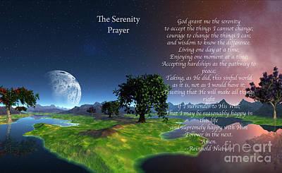 The Serenity Prayer Print by Heinz G Mielke