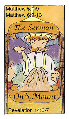 Revelation Drawing - The Sermon by Chayla Dion Amundsen-Noland
