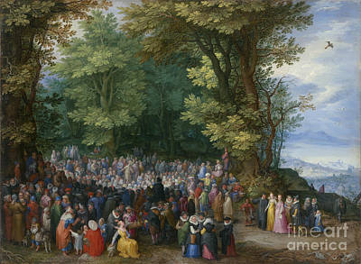 The Sermon On The Mount Print by Celestial Images