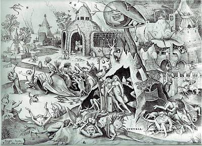 Animal Painting - The Seven Deadly Sins Or The Seven Vices - Lechery by Pieter Bruegel the Elder