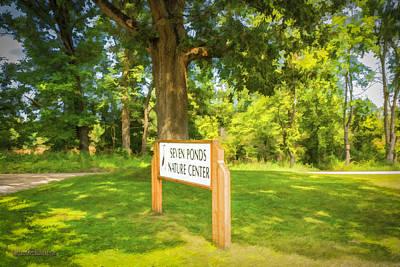 Boardwalk Photograph - The Seven Ponds Nature Center Gate by LeeAnn McLaneGoetz McLaneGoetzStudioLLCcom