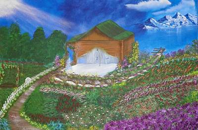 Log Cabin Art Mixed Media - The Shack In Transition by Laurie Kidd