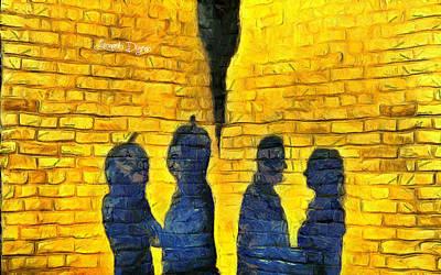 Heads Painting - The Shadow by Leonardo Digenio