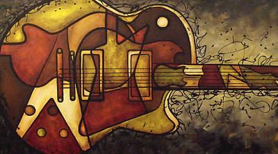 Guitars Painting - The Shape That Defines Us by Darlene Keeffe