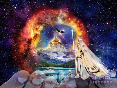 Oil Lamp Digital Art - The Shelter Of Gods Love by Dolores Develde