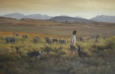 Art Of Mia Delode Painting - The Shepherdess by Mia DeLode
