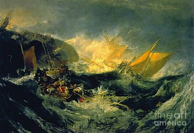 Minotaur Painting - The Shipwreck Of The Minotaur by JMW Turner