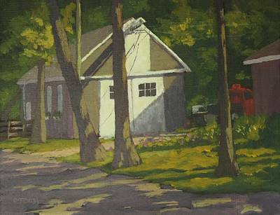 The Shop At Aldermere Print by Bill Tomsa