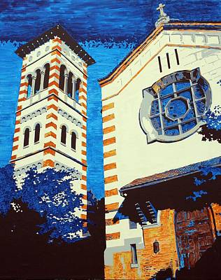 Church Pillars Painting - The Shrine Of The Miraculous Medal by Sheri Parris