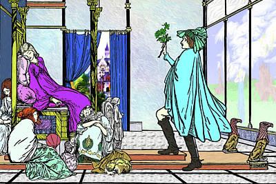 Throne Room Digital Art - The Shrubbery by John Haldane