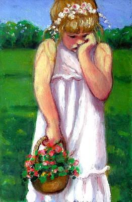 Pastel - The Shy Flower Girl by Joyce Geleynse