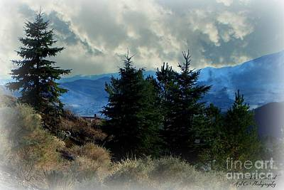 High Sierra Digital Art - The Sierras by Bobbee Rickard