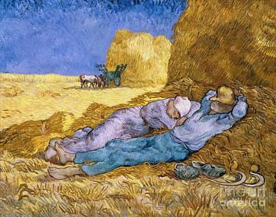 Workers Painting - The Siesta by Vincent Van Gogh
