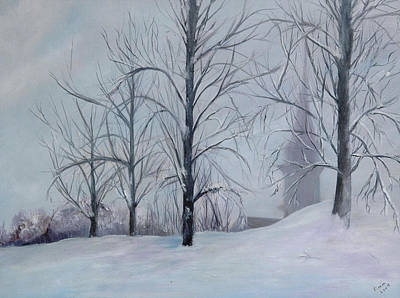 Snowscape Painting - The Silence Of Snow by Betty Pimm